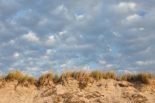 Beach Dunes & Sky stock photo