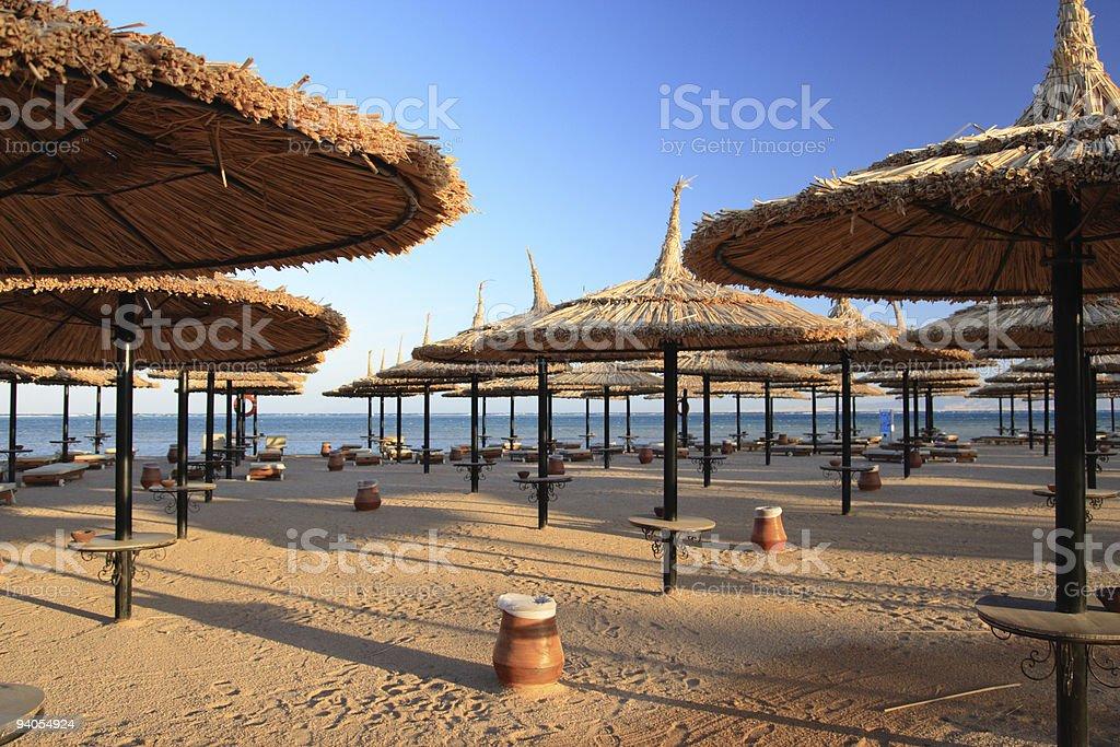 Beach. Egypt, Sharm al-Sheikh. stock photo