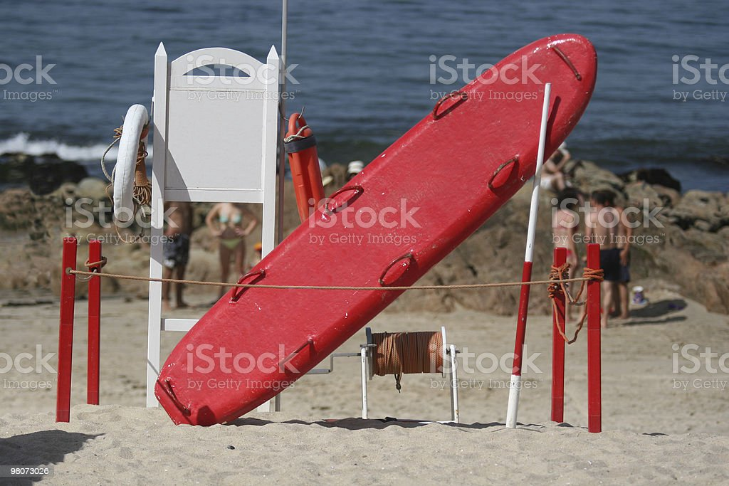 Beach Emergency Services royalty-free stock photo