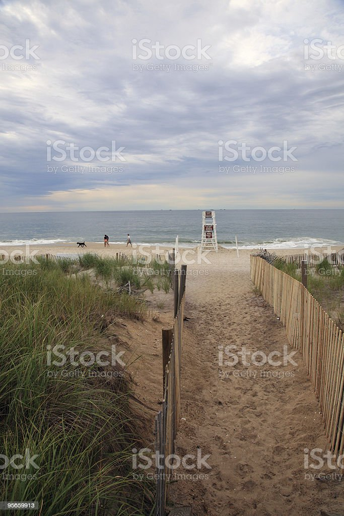 Beach Entrance stock photo