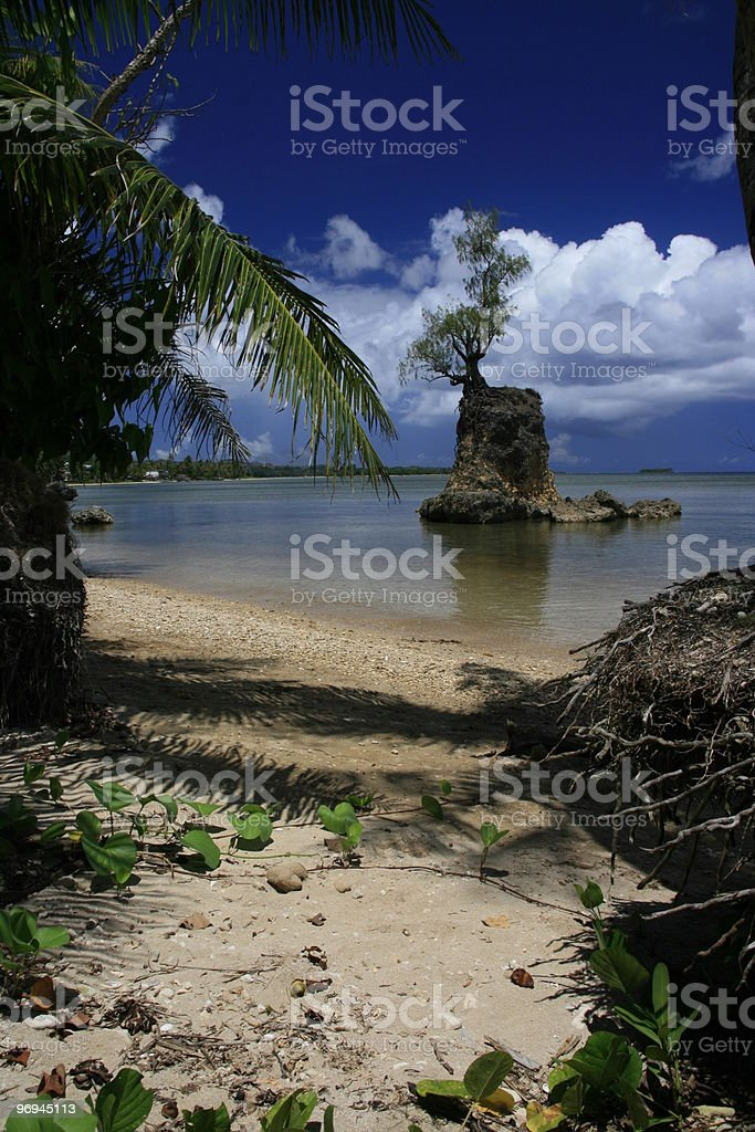 Beach entrance royalty-free stock photo
