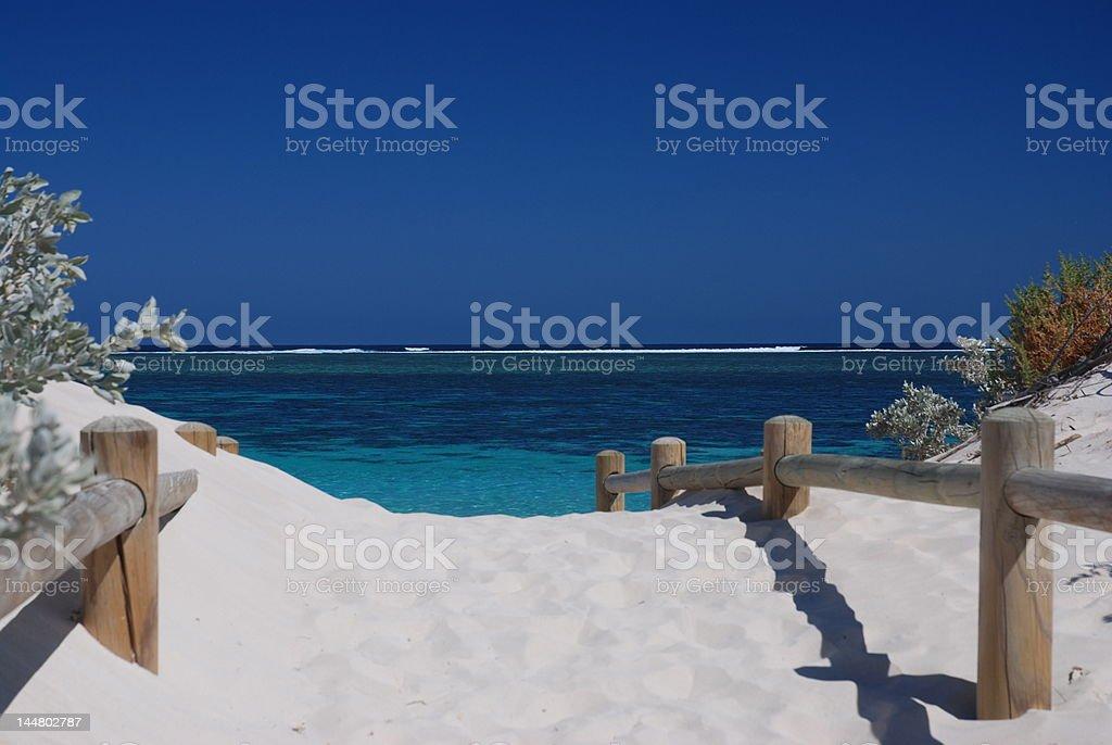 beach entrance turquoise bay western australia exmouth stock photo