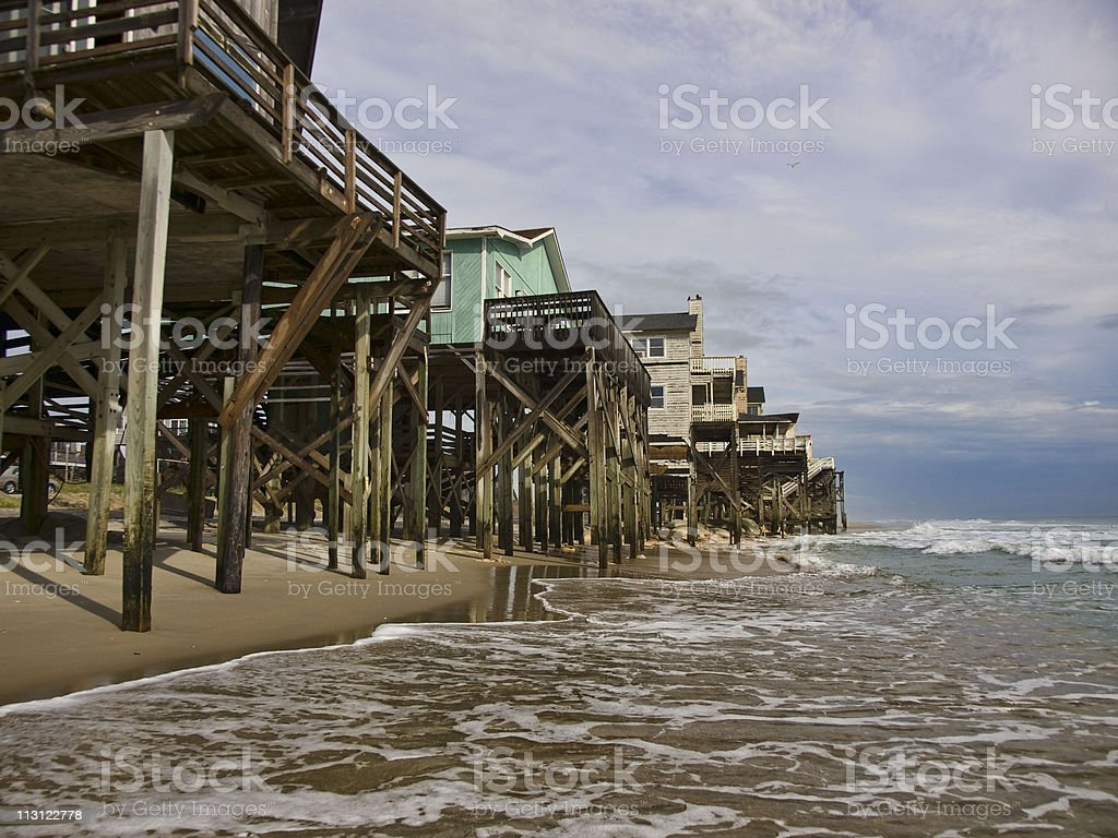Beach Erosion stock photo