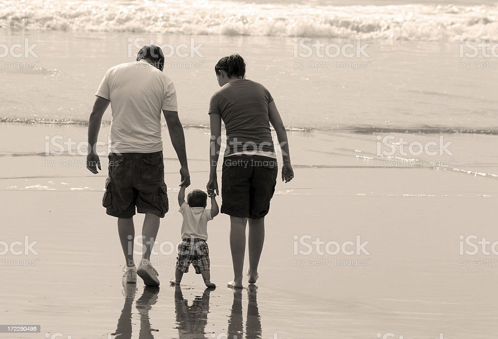Beach Family stock photo