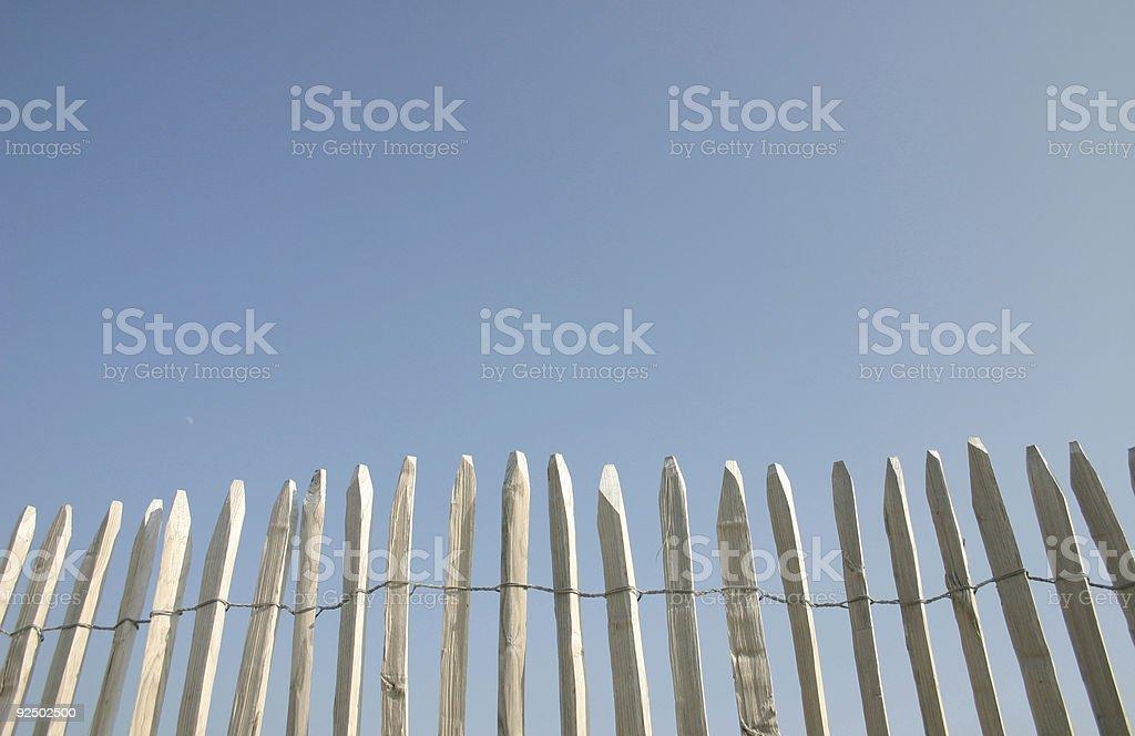 beach fence royalty-free stock photo
