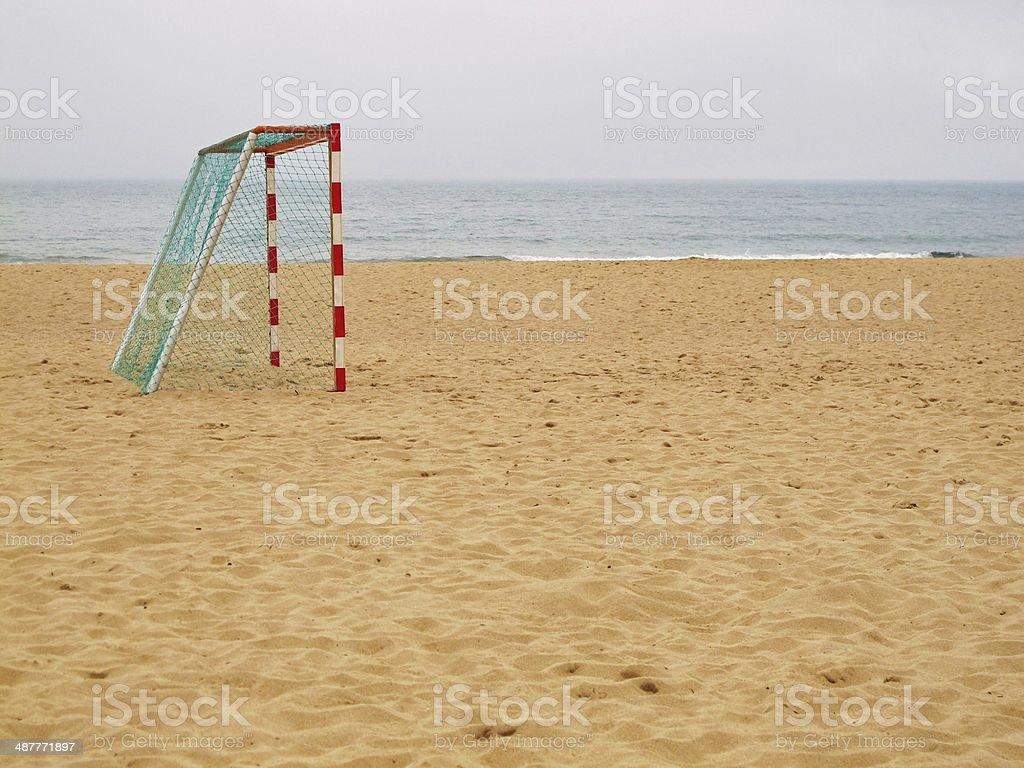 Beach Footy stock photo