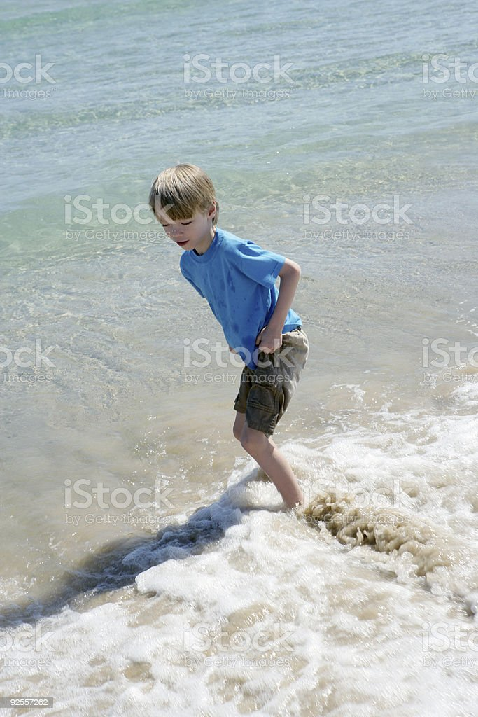 Beach Frolic stock photo