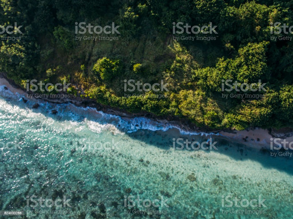 beach from above, bali, indonesia