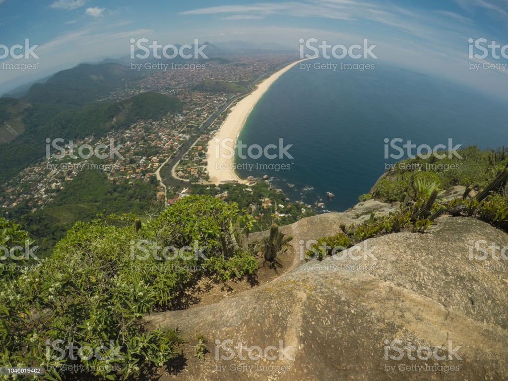 Beach from above stock photo