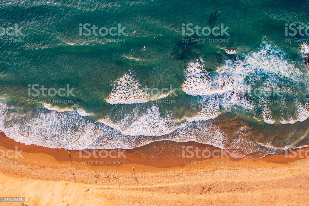Playa desde arriba - foto de stock