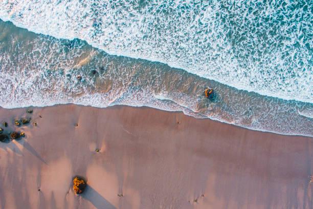 au-dessus de la plage - paysage mois de mars photos et images de collection