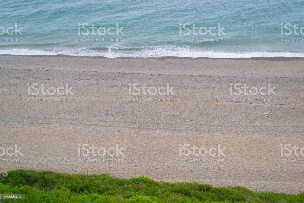 Strand von oben - Lizenzfrei Auseinander Stock-Foto
