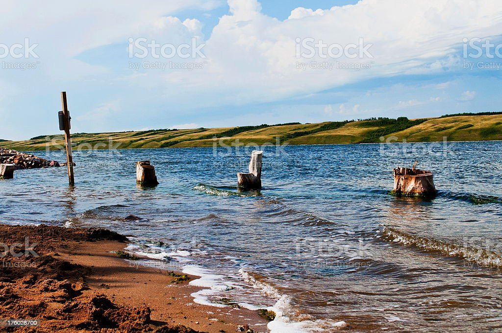 Beach from Manitou Lake royalty-free stock photo