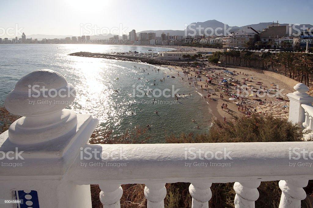 Beach from the balcony royalty-free stock photo
