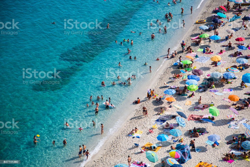beach from tropea stock photo