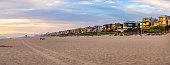 Manhattan Beach luxury house at sunset panorama