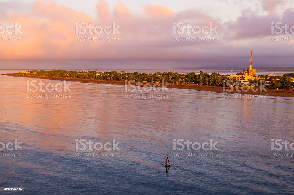 Beach front of Puntarenas Costa Rica stock photo