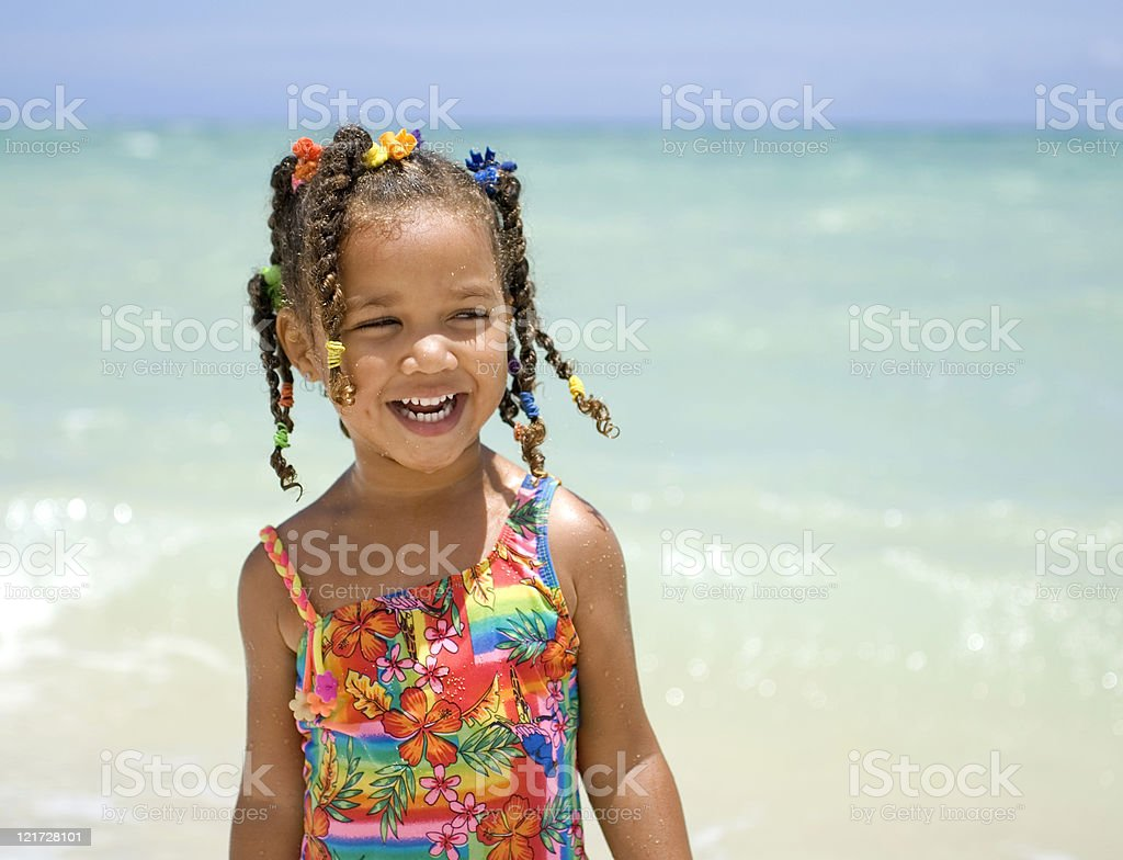 Beach fun stock photo
