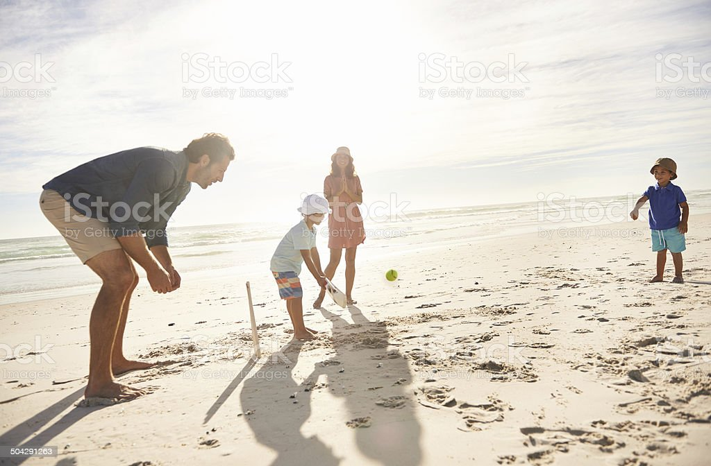 Beach fun stock photo