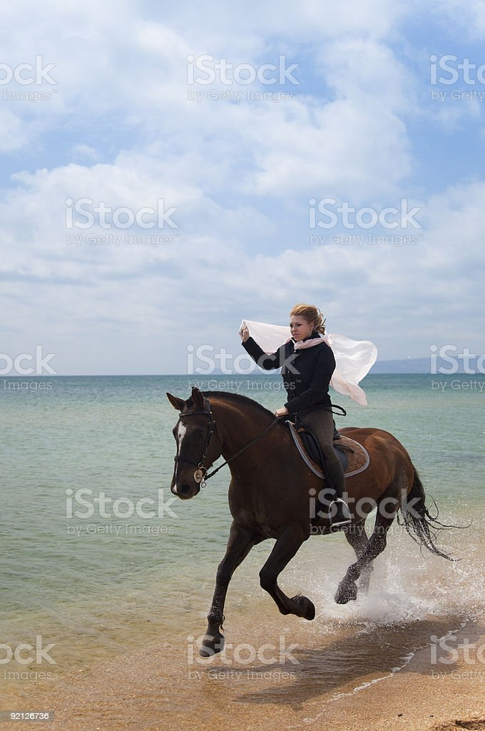 Beach Gallop / summer freedom royalty-free stock photo