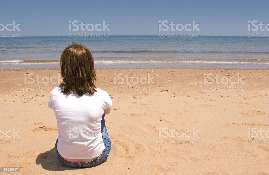 Beach Girl 1 royalty-free stock photo