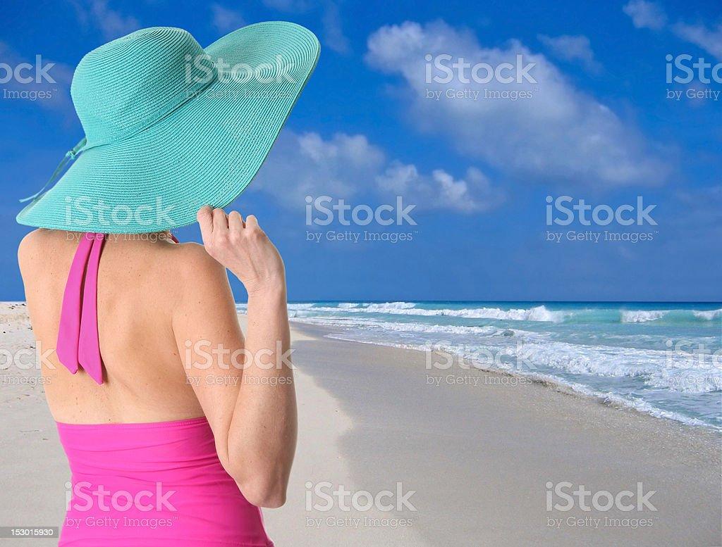Beach girl royalty-free stock photo