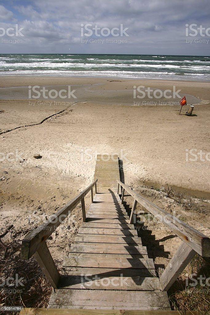 beach going down again royalty-free stock photo