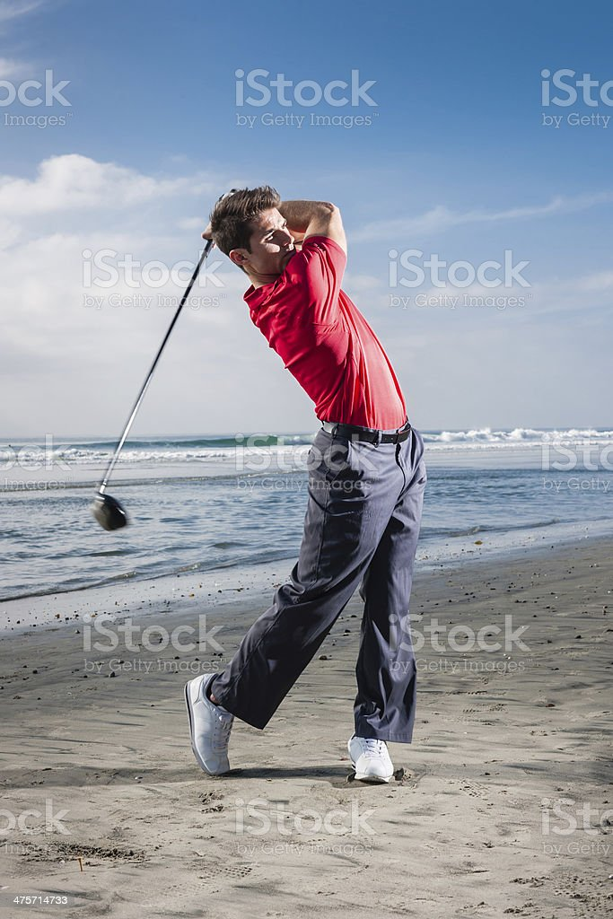 Beach Golf royalty-free stock photo