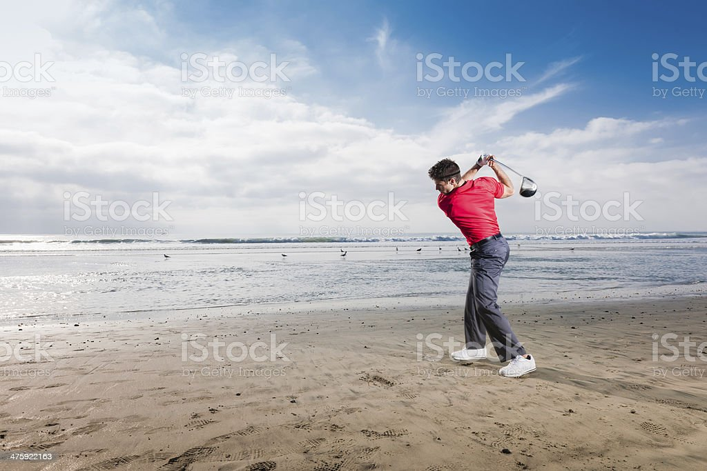 Beach Golf royalty-free stock photo