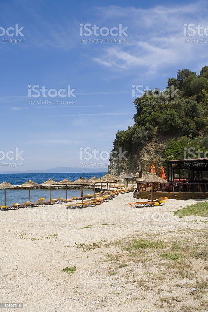 Playa de Grecia foto de stock libre de derechos