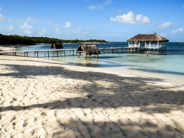 在古巴海灘吊床圖像檔