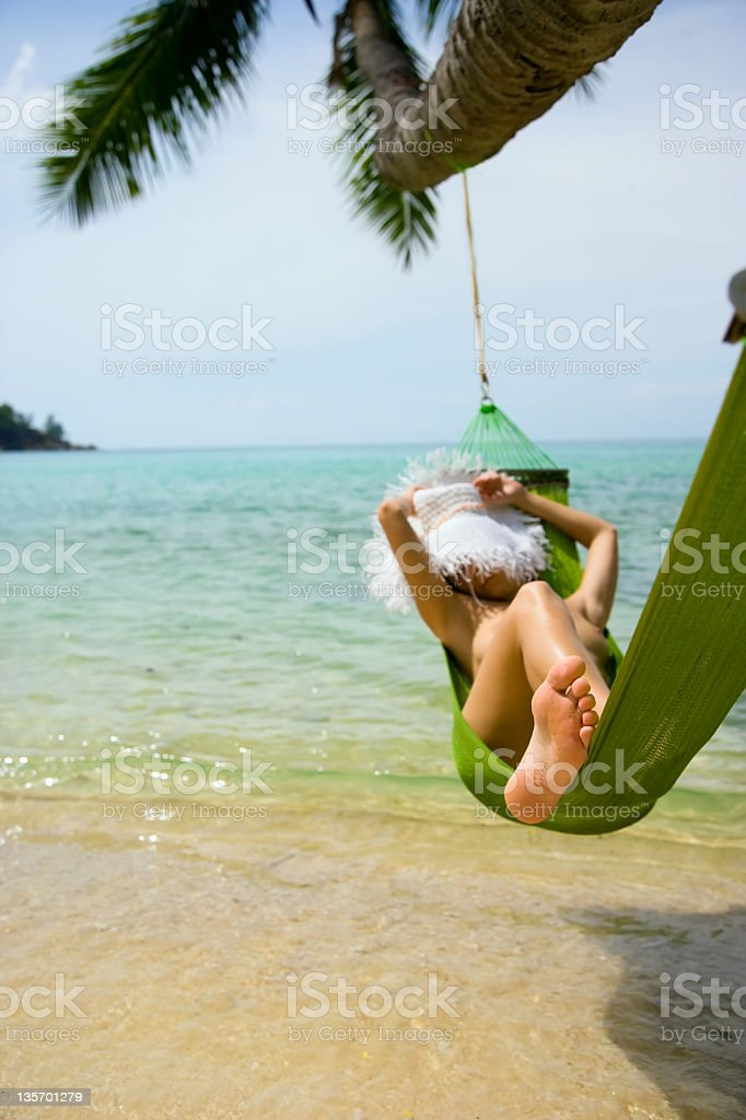 Beach Hammock royalty-free stock photo