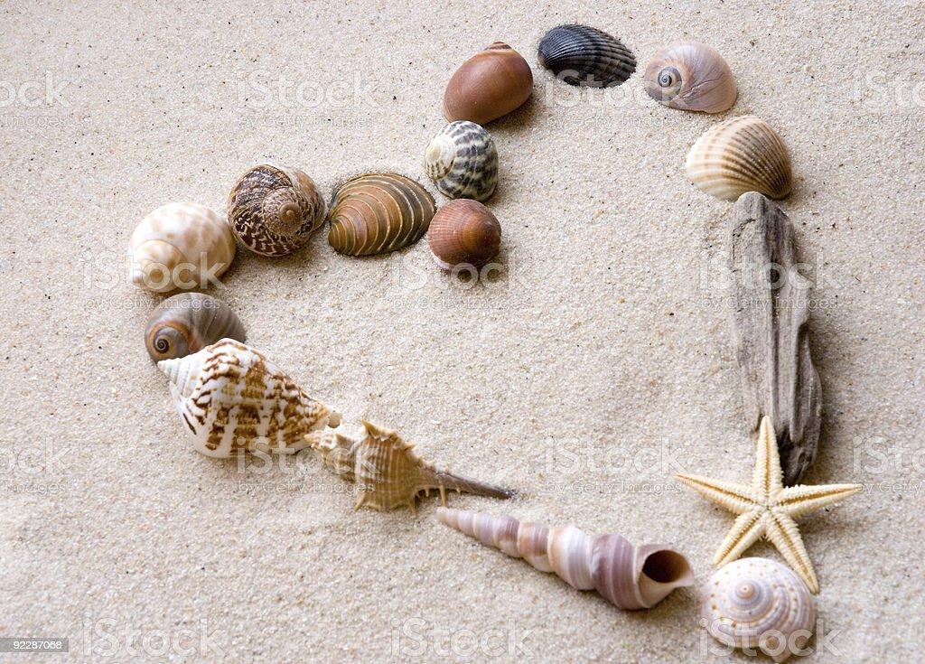 beach heart royalty-free stock photo