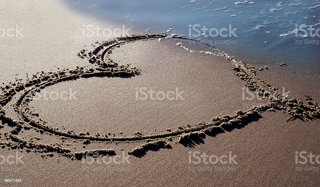 beach heart royalty-free stock photo