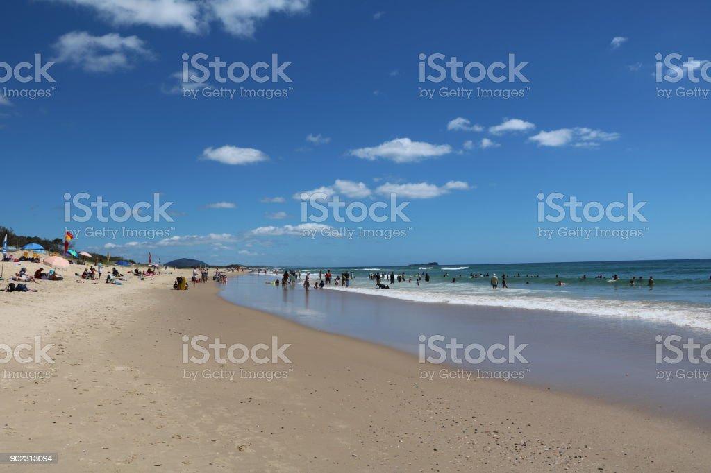 Beach holiday at Sunshine Coast in Queensland, Australia stock photo