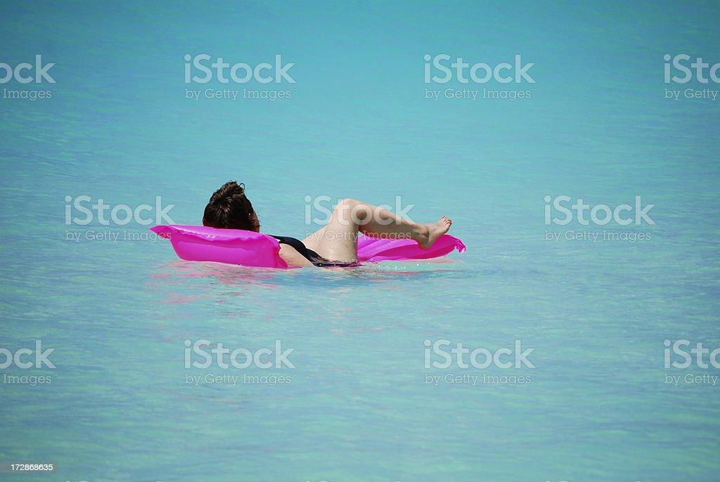 Beach holiday relaxation! stock photo