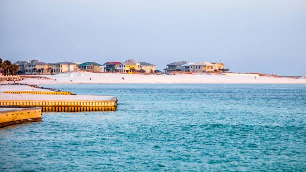 Beach homes - Destin, Florida stock photo
