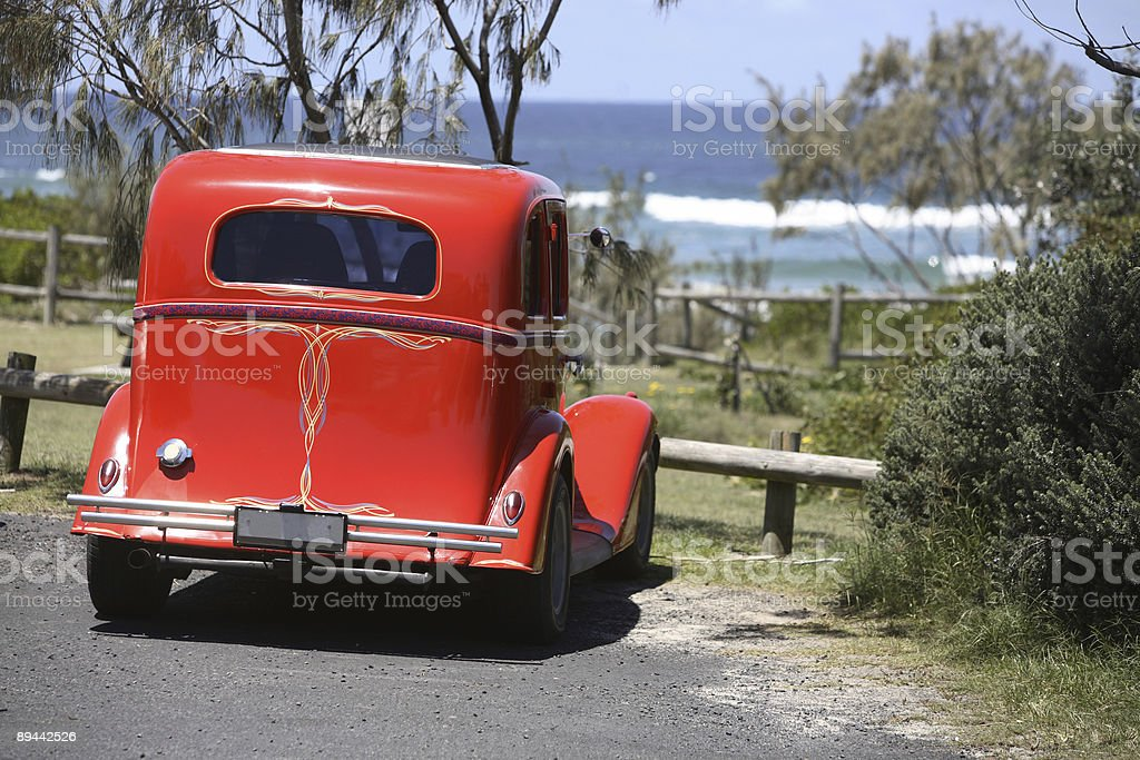 Beach Hot Rod royalty-free stock photo