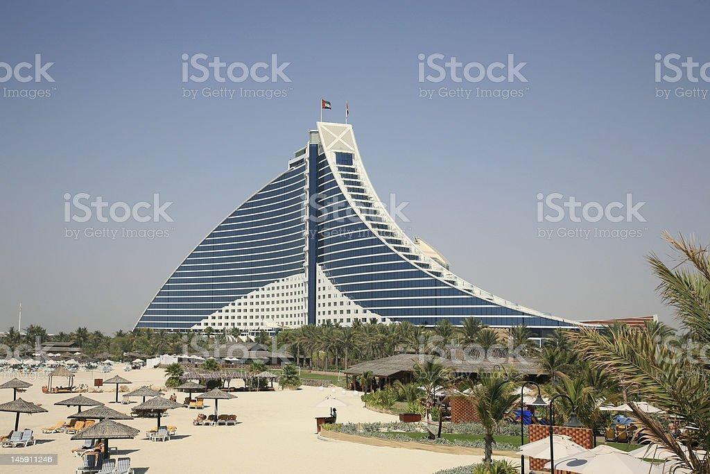 Beach Hotel in Jumeirah Dubai U.A.E. stock photo