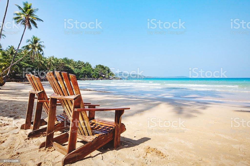 beach hotel, summer holidays stock photo