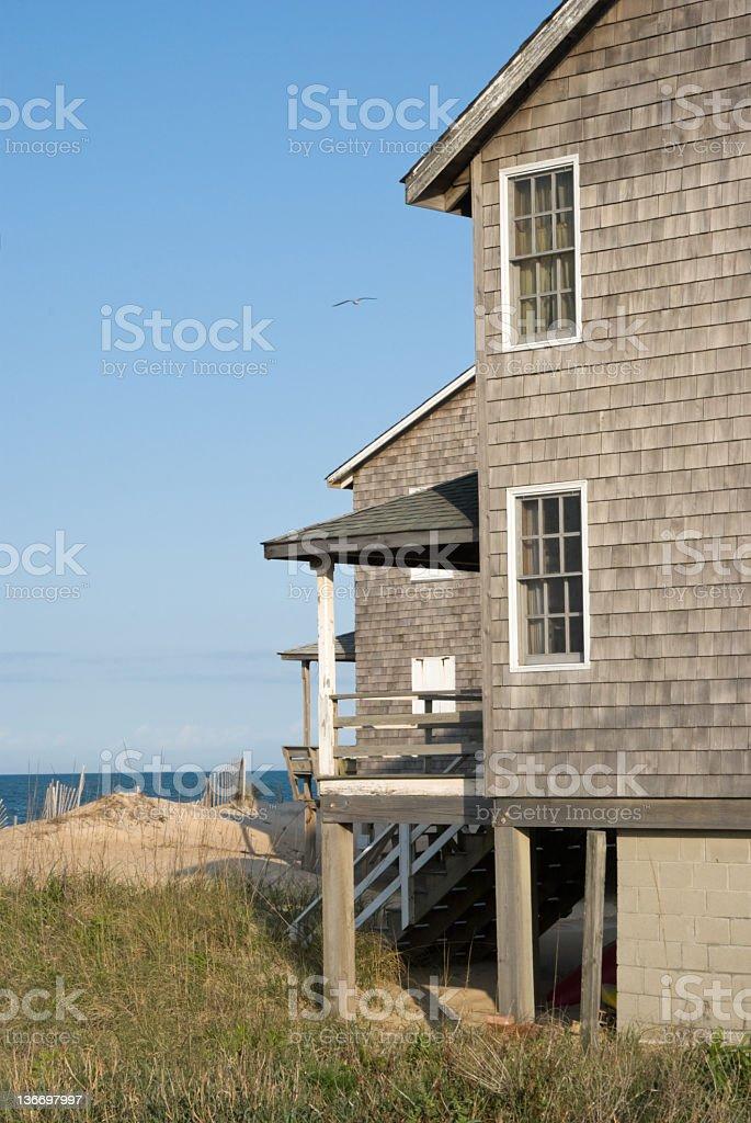 Beach House at a Summer Resort royalty-free stock photo
