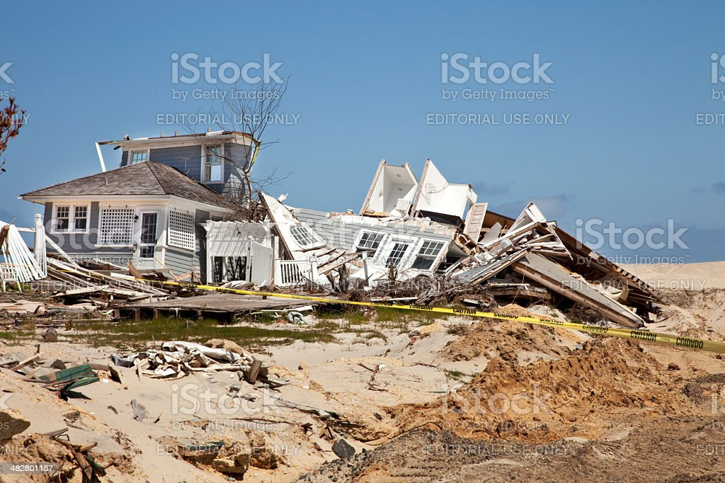 Beach House Destroyed royalty-free stock photo