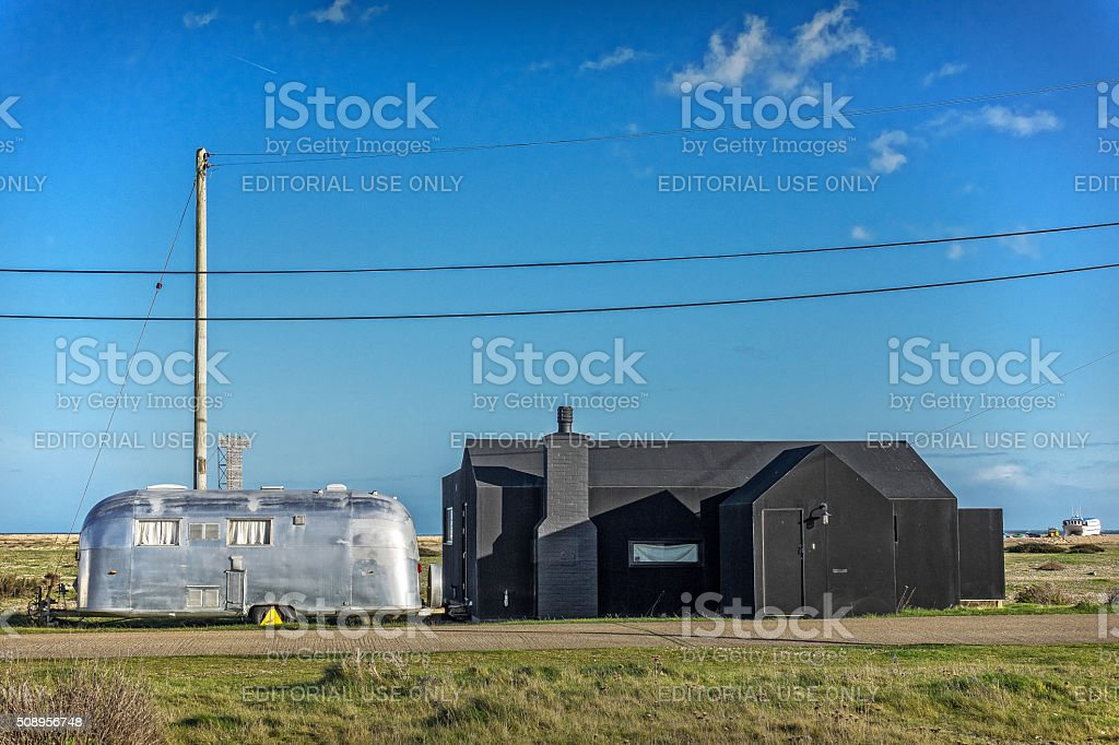 Strand Haus Dungeness in Kent, England – Foto