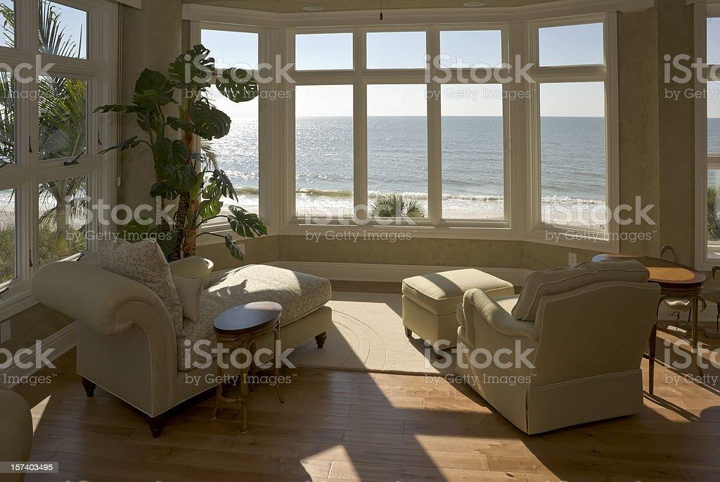 Beach House Sun Room stock photo