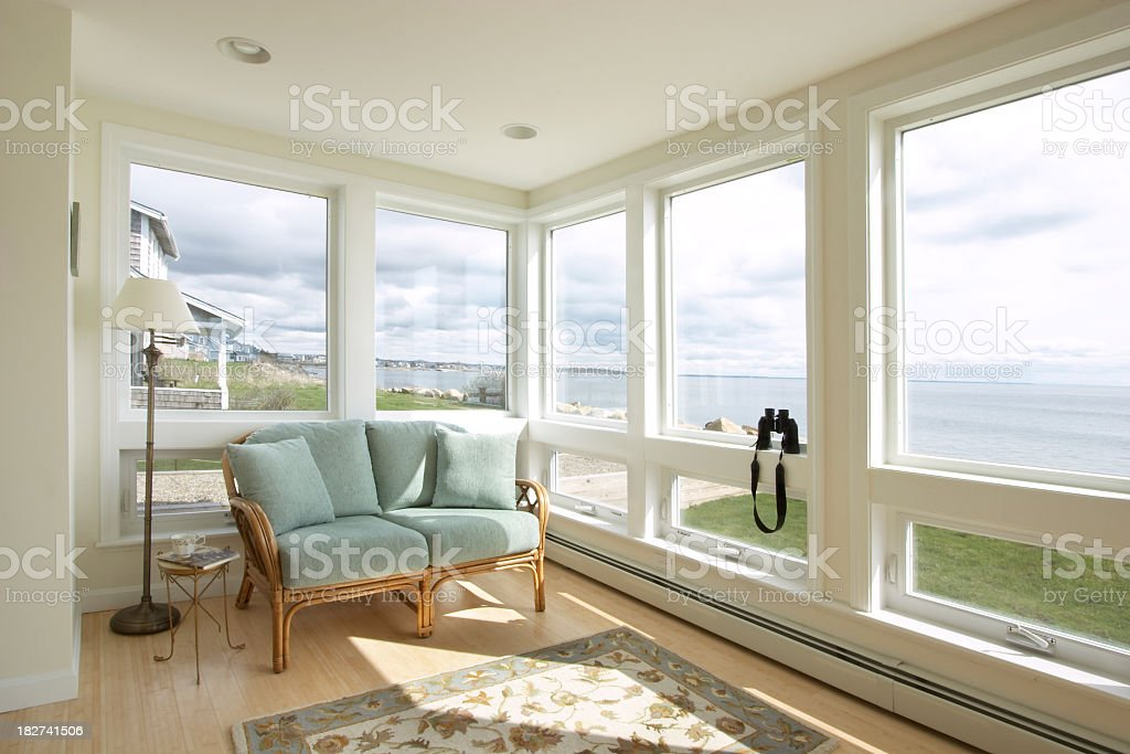 Beach House Sunroom stock photo