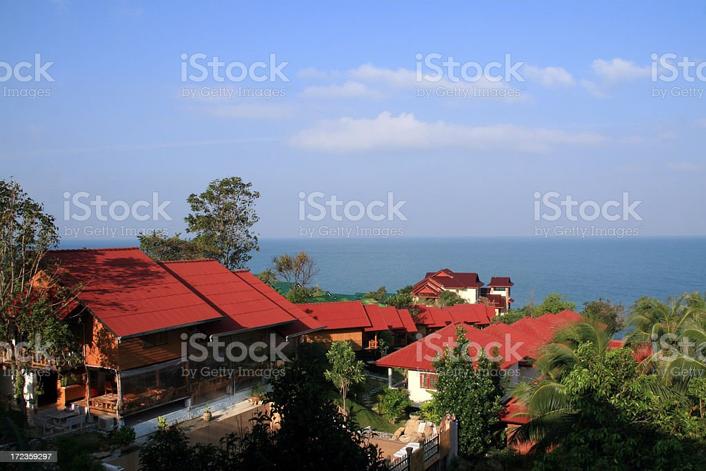 Beach House Villa at Tropical Destination royalty-free stock photo