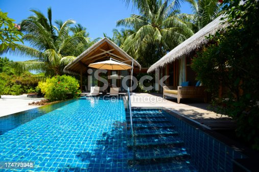 1082419790 istock photo Beach House With Swimming Pool 174773948