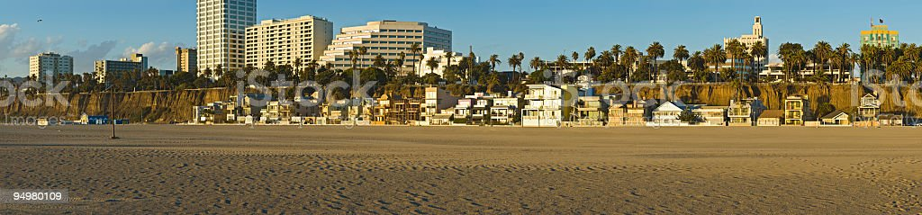 Beach houses and hotels royalty-free stock photo