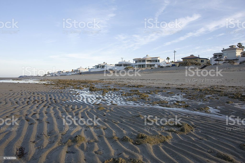 Beach Houses at Low Tide royalty-free stock photo