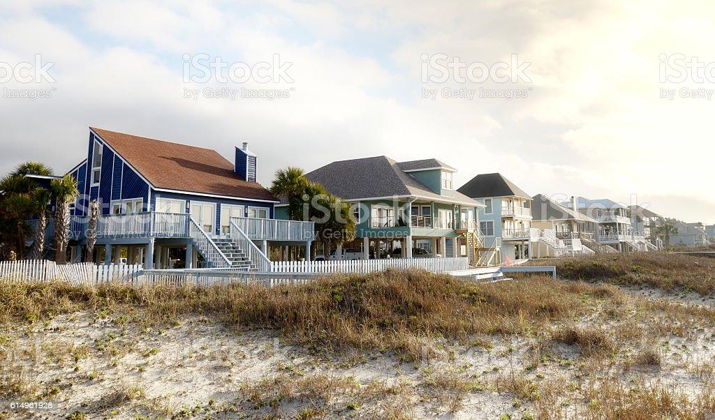 Beach Houses, Florida stock photo